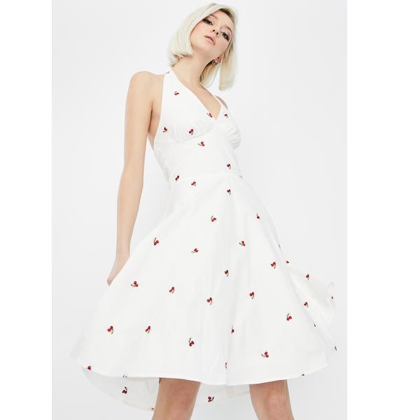 Voodoo Vixen Winnie Cherry Halter Dress