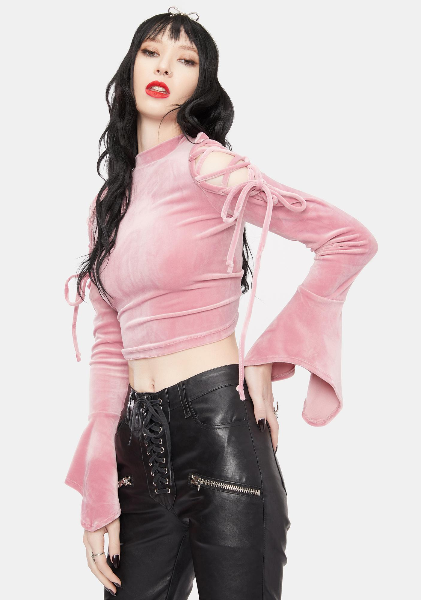 There You Were Flare Velvet Top