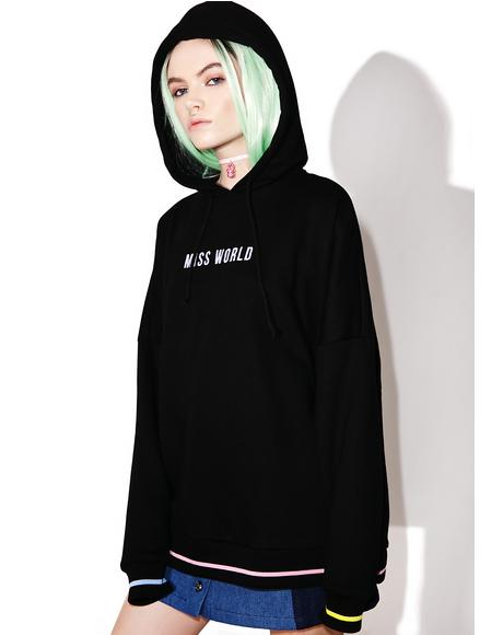Miss World Oversized Hoodie