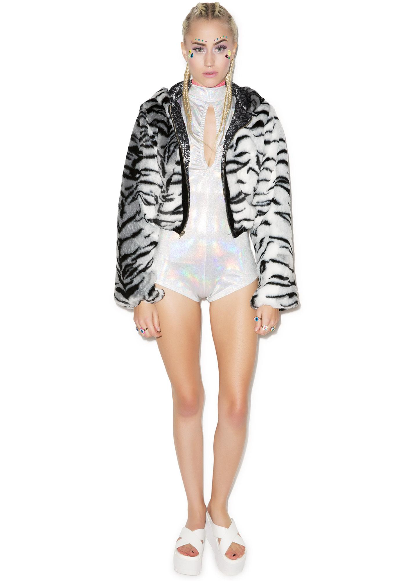 J Valentine White Tiger Jacket