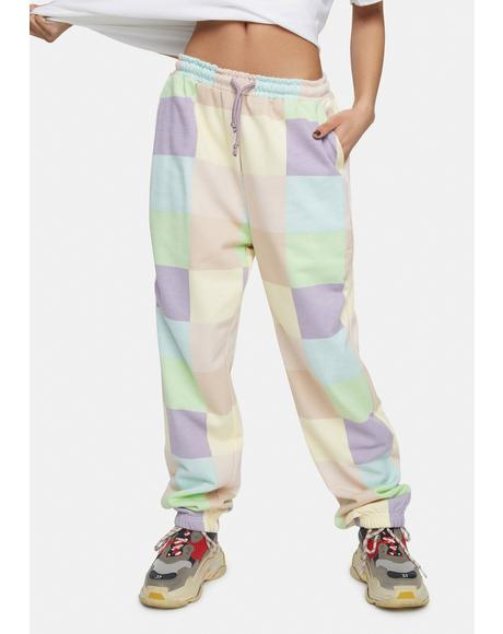 Megan Checkered Joggers