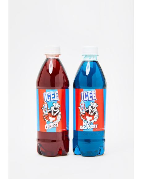 Icee Blue Raspberry & Cherry Syrup Set