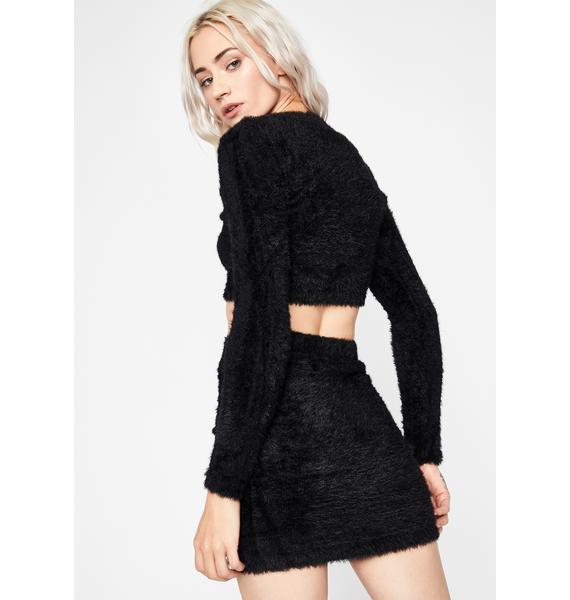 Sinful Fuzzy Freaq Skirt Set