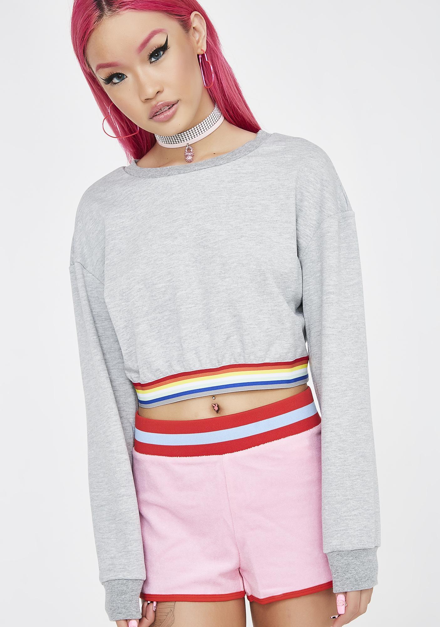 Glamorous Feel The Sunshine Cropped Sweater