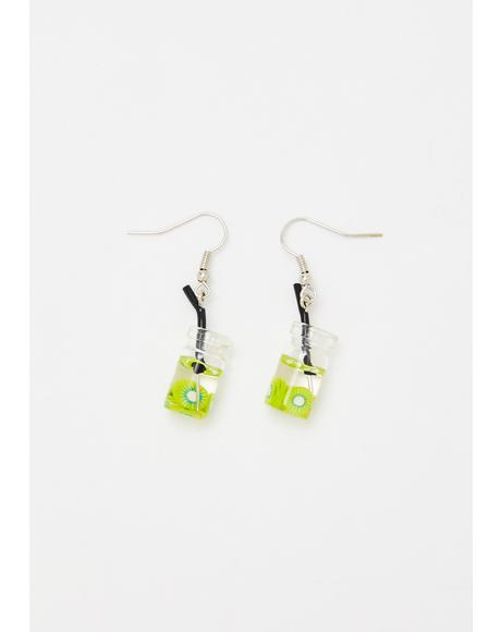 Kiwi Sippin' On U Hook Earrings
