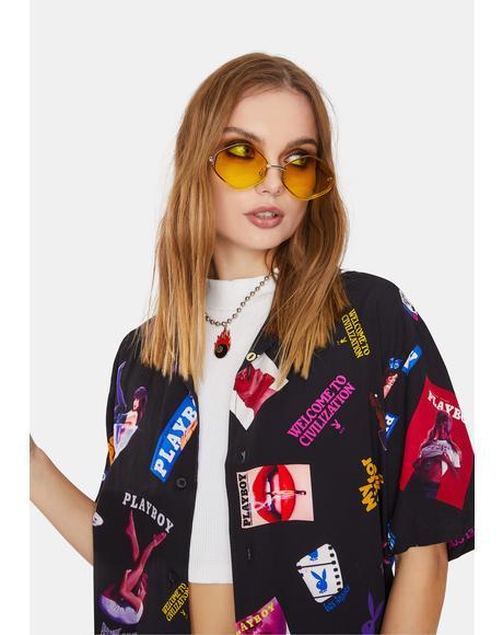 Later Days Hexagon Boho Sunglasses