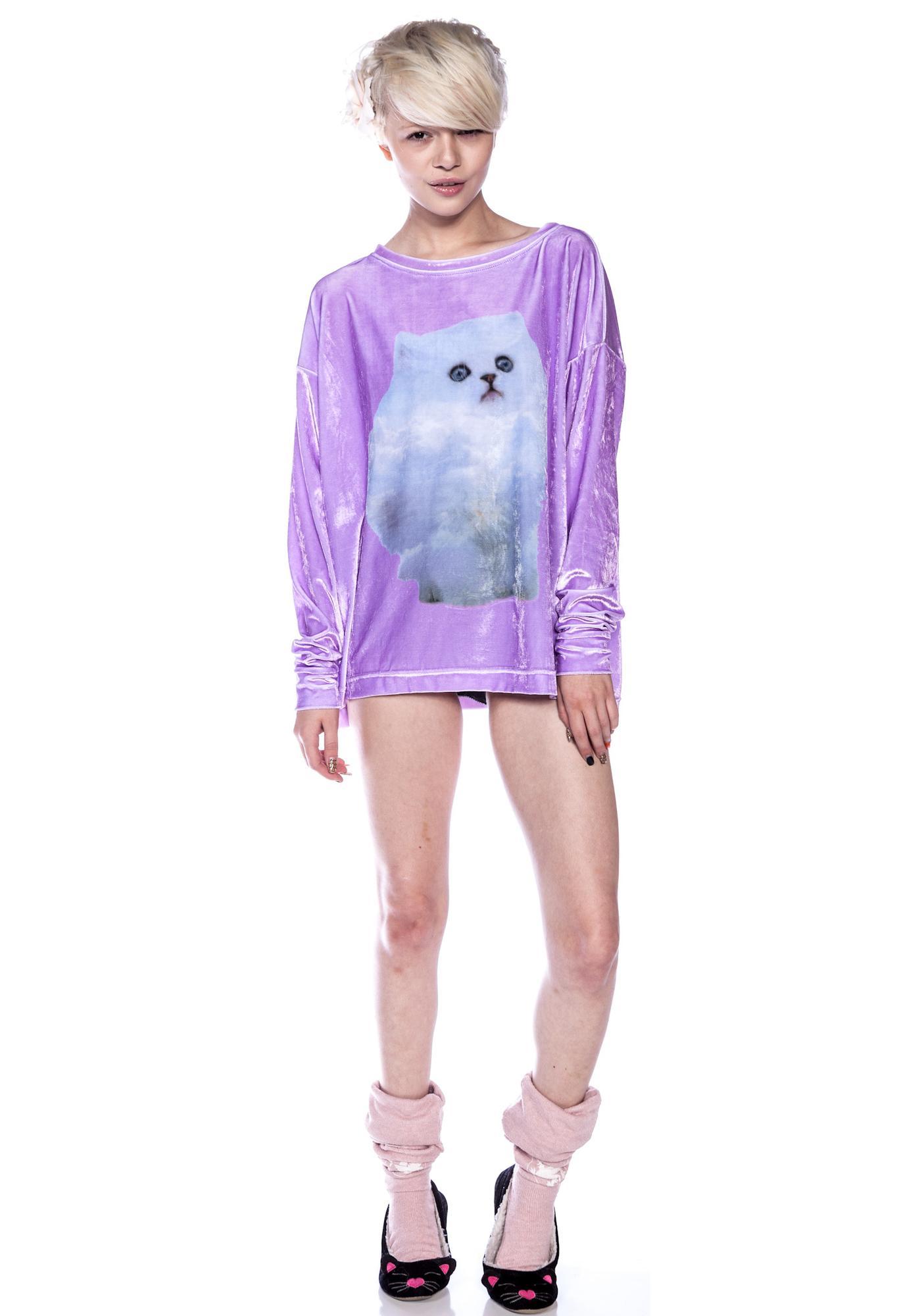 Wildfox Couture Cloud Kitten Sweater