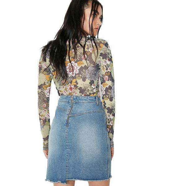 Cheap Monday Almost Denim Skirt