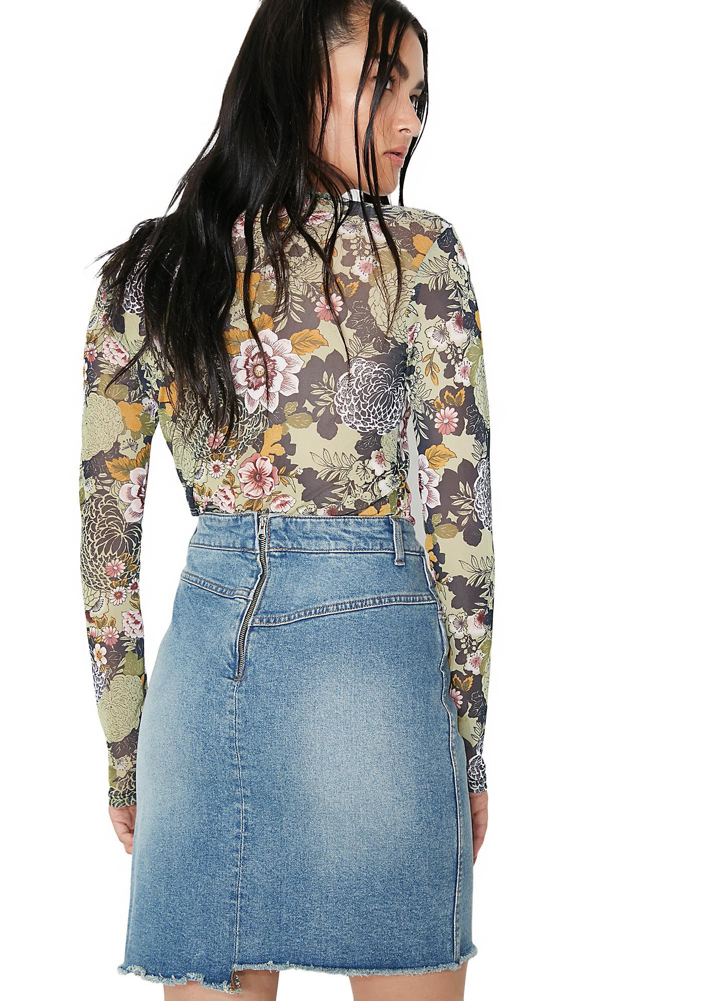 Cheap Monday Almost Denim Skirt