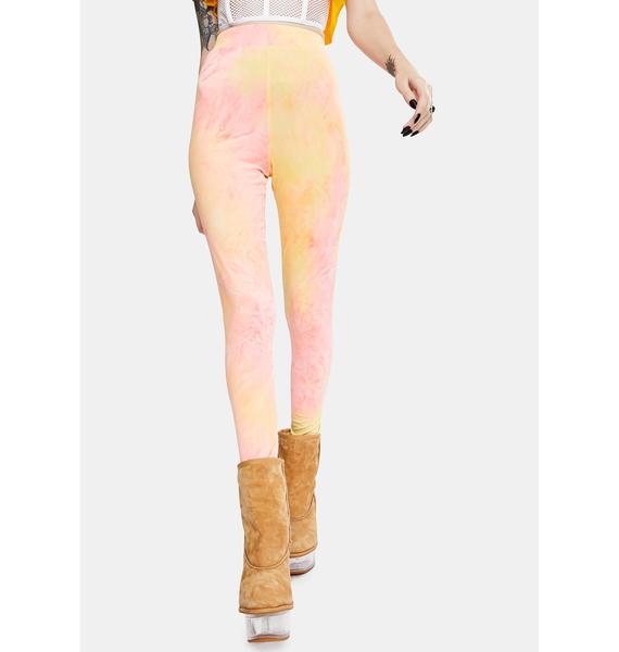 Glamorous Neon Tie Dye Leggings