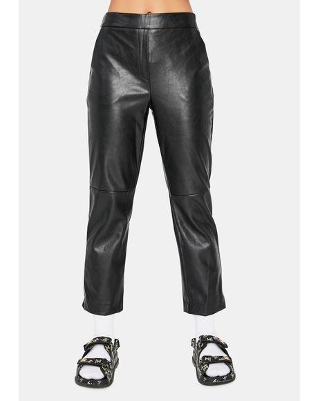 Moments Like This Faux Leather Pants