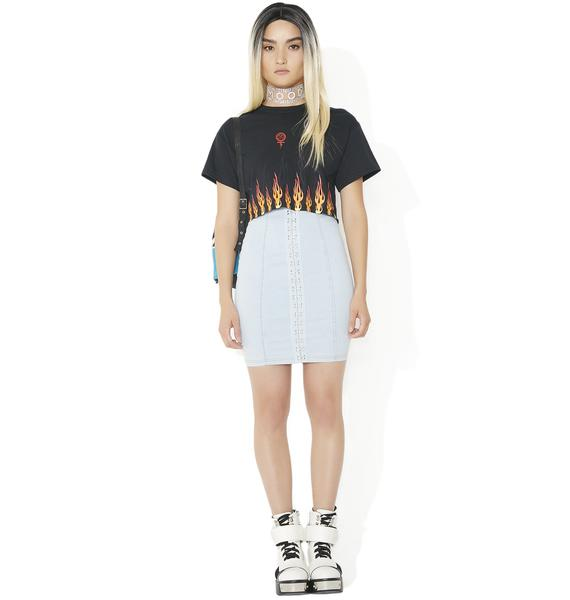 Civil Clothing Litty Cropped BF Tee