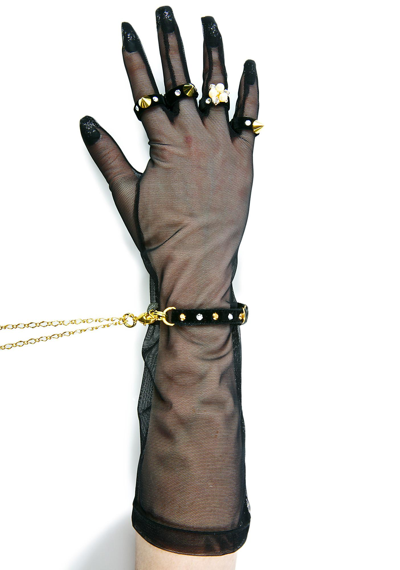 Fraulein Kink Tulle Glove Handcuffs