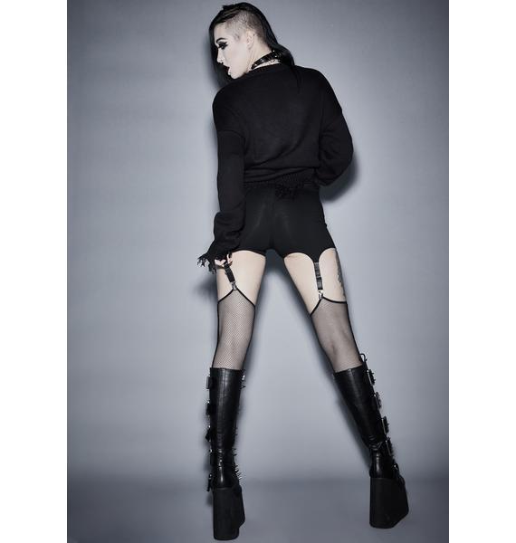 Widow Lost In The Void Garter Leggings