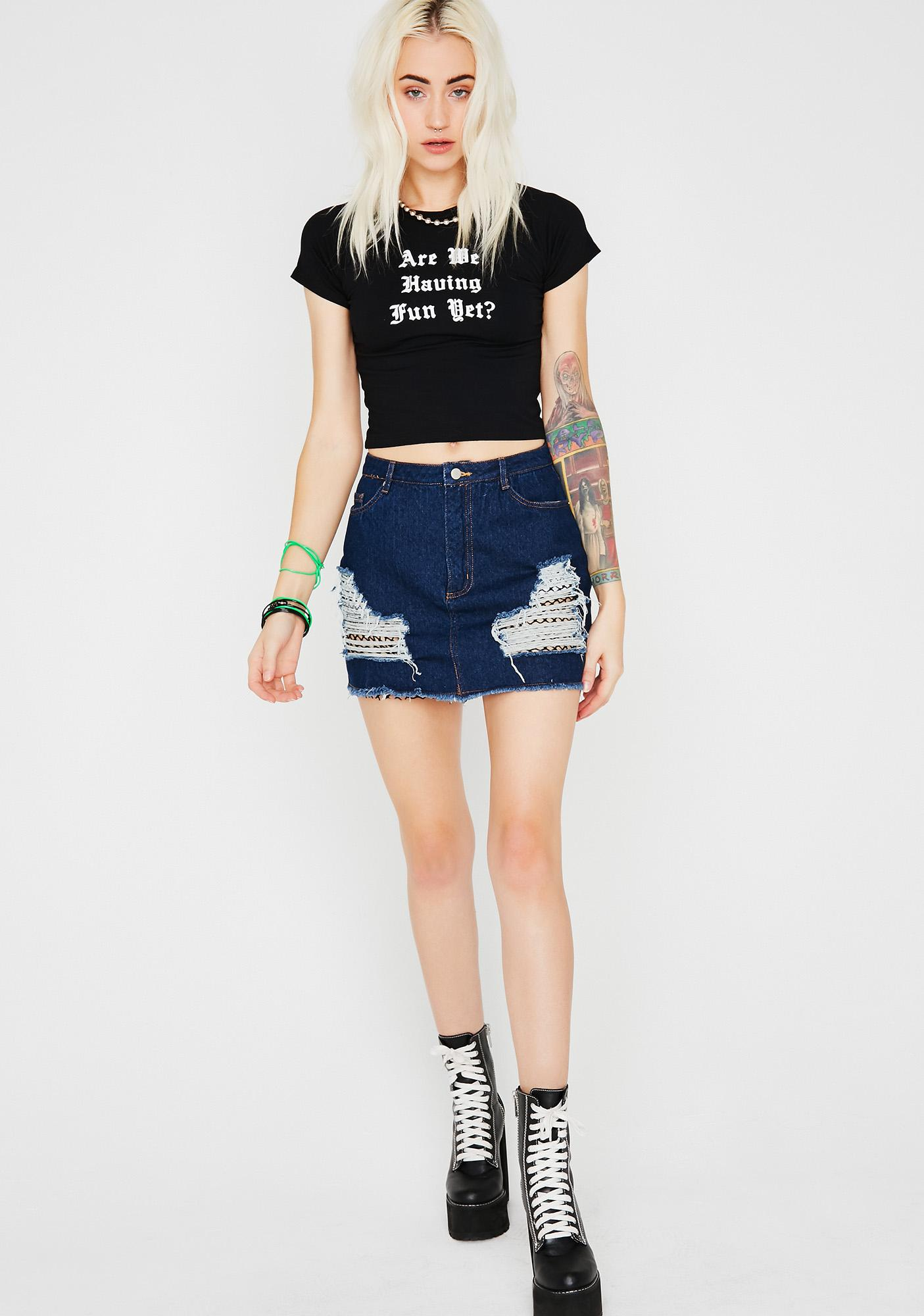 Scene Stealer Denim Skirt