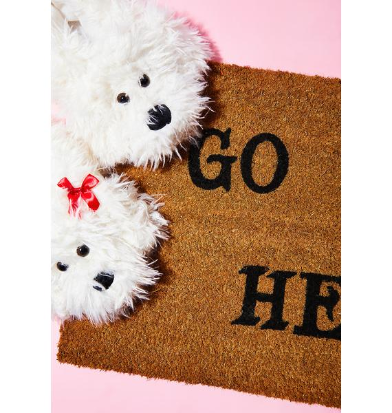 Rosehound Apparel Go To Hell Door Mat