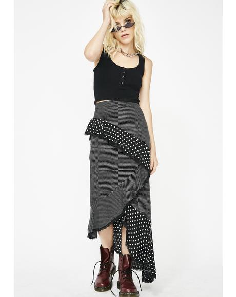 Not Playin Midi Skirt
