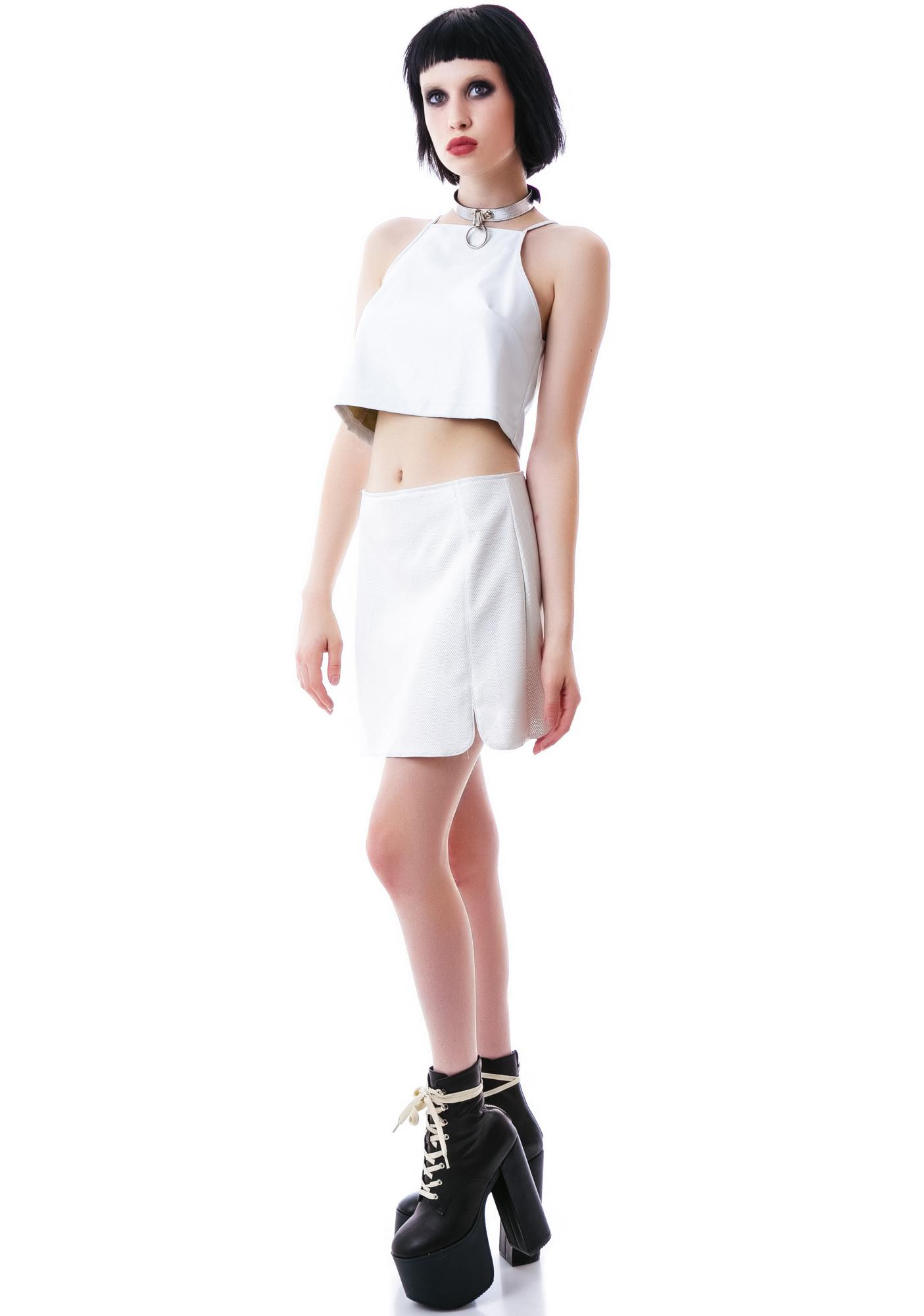 Motel Pauge Perforated Skirt