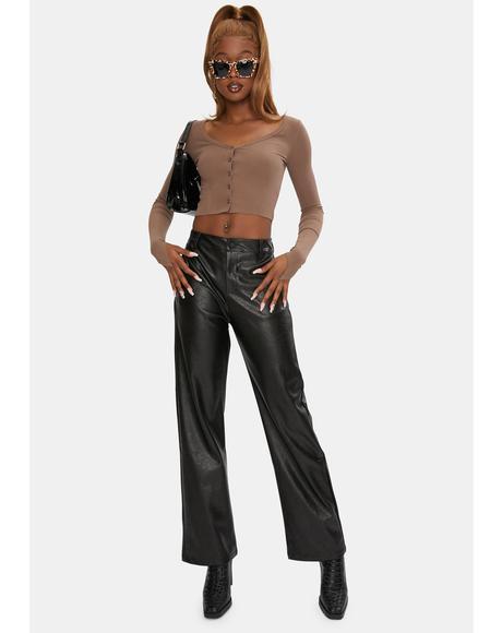 Flori Vegan Leather Pants