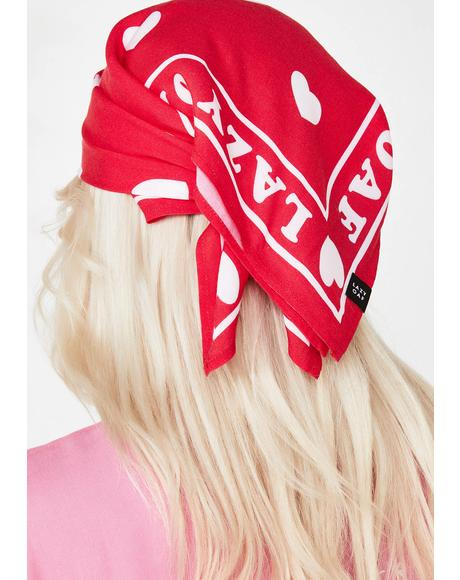 Lazy Hearts Bandana
