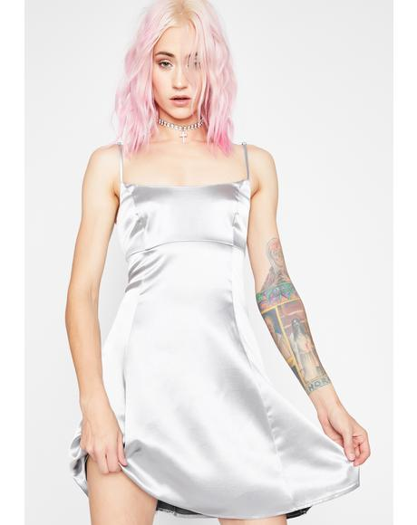Dipped In Stardust Satin Dress