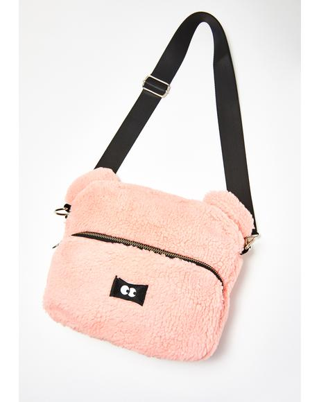 Pink Teddy Bear Bag