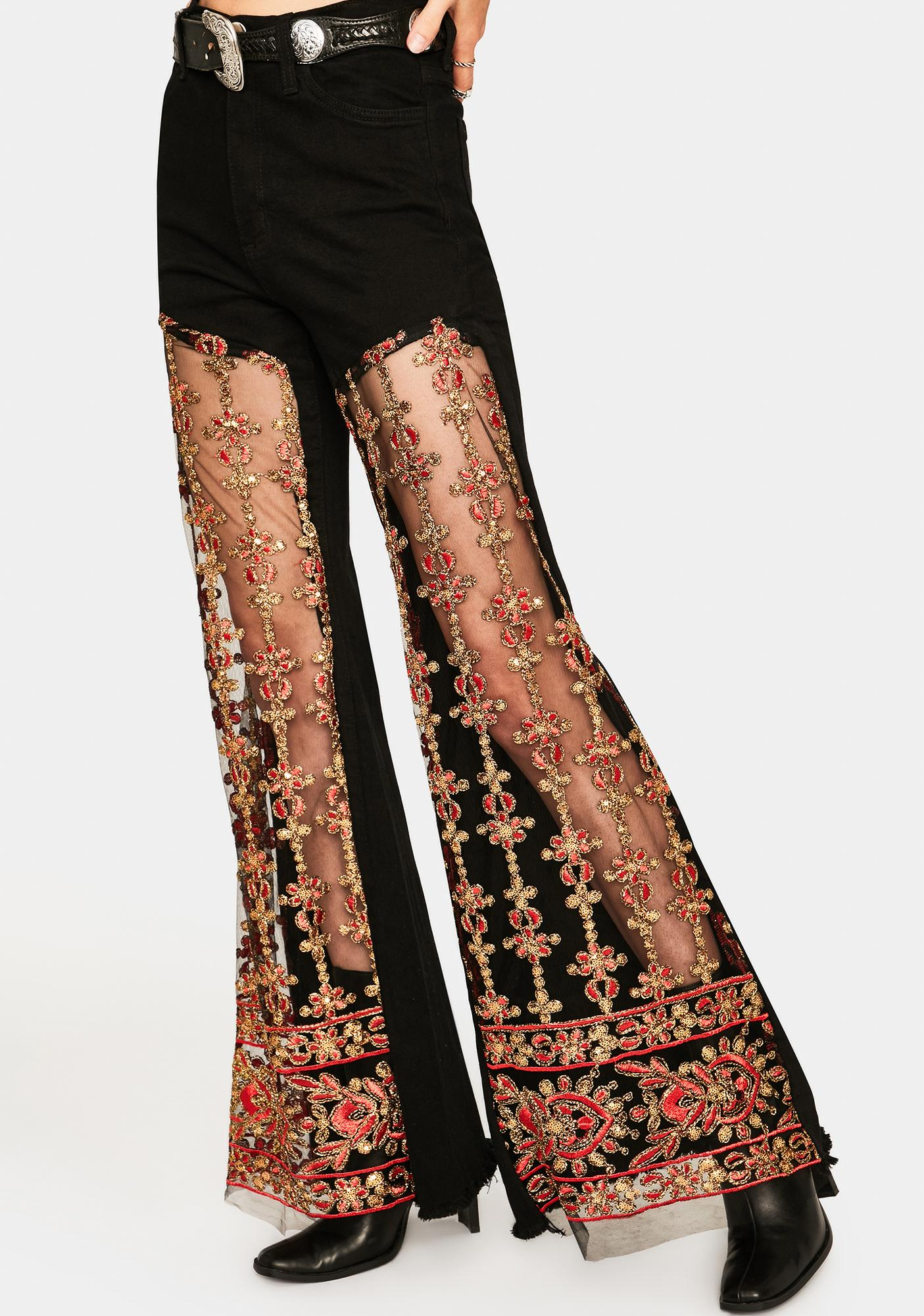 Lace Lassy Embroidered Jeans