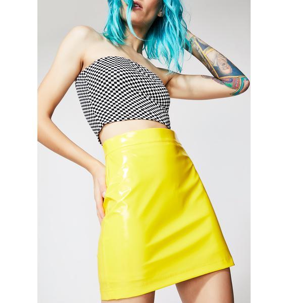 Current Mood Sunny Test Ya Luck Mini Skirt