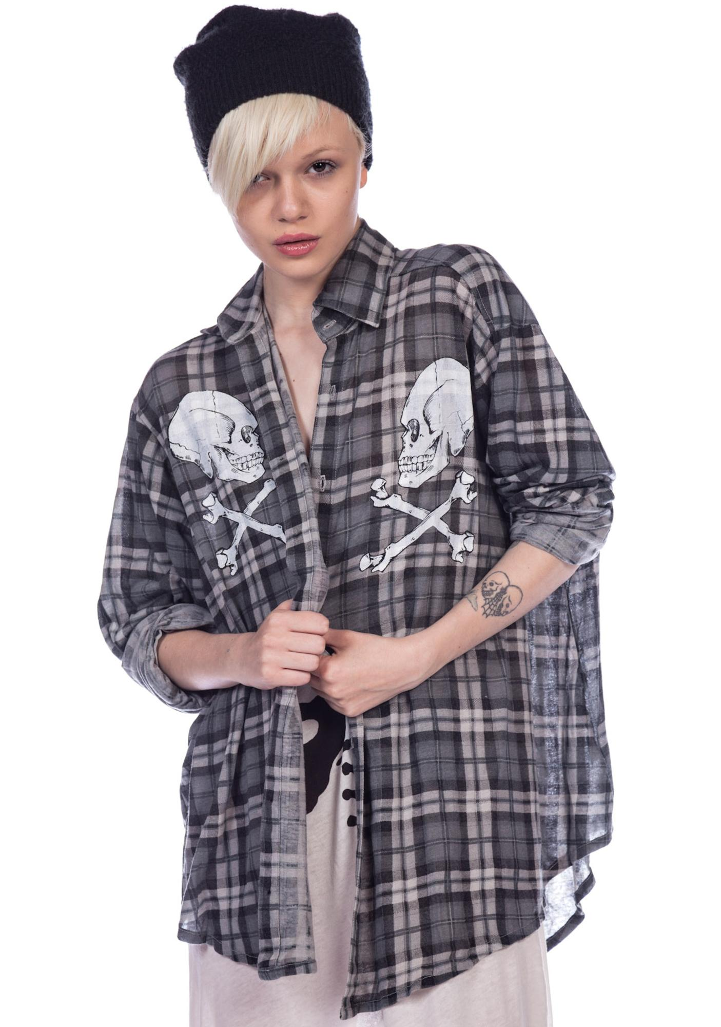 Wildfox Couture Cimitero Seattle Button Down Shirt