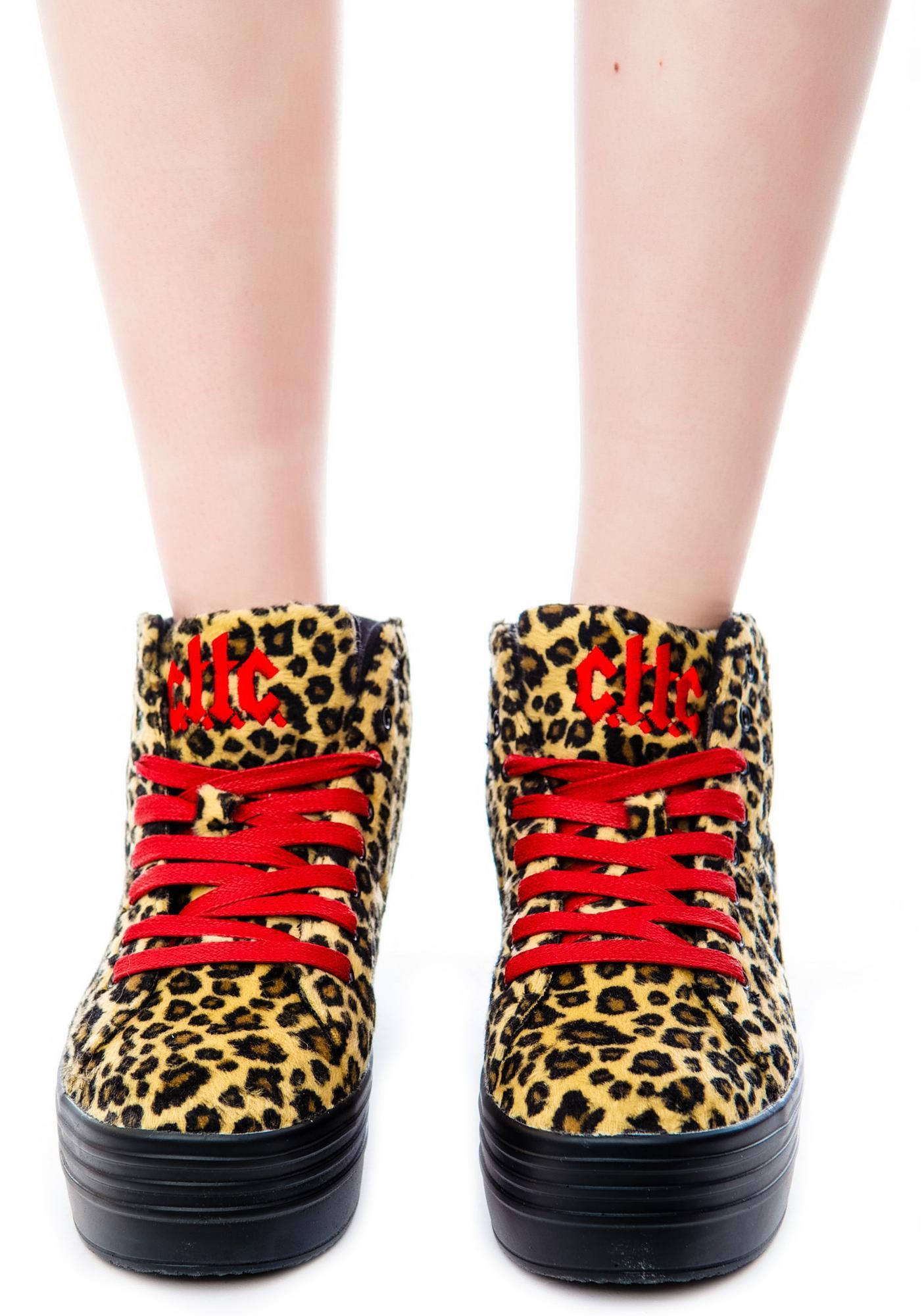Stompin on Darkness Platform Sneakers