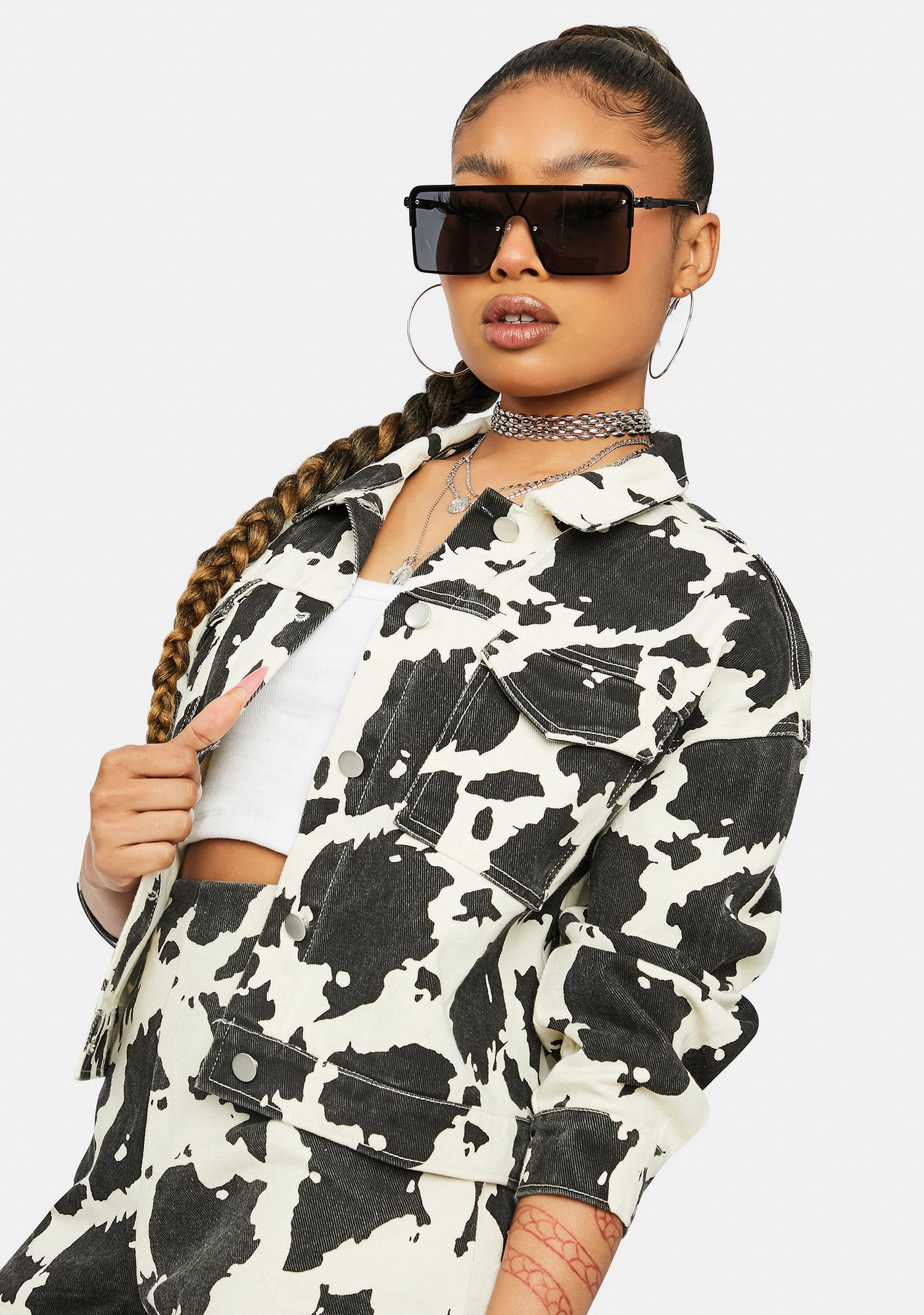 Way Out West Cow Denim Jacket