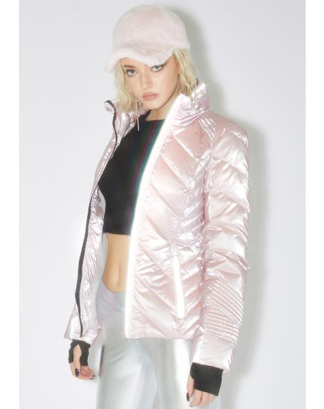 Reflective Super Hero Puffer Jacket
