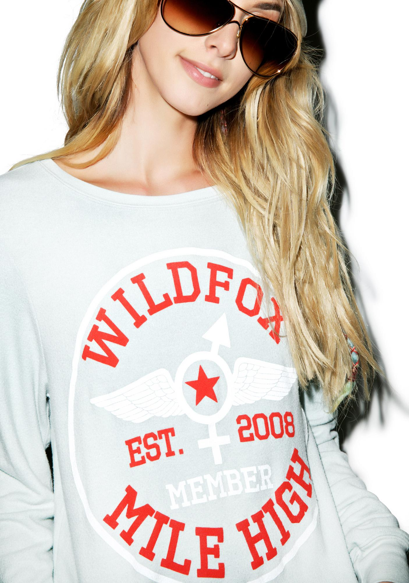 Wildfox Couture Mile High Member Baggy Beach Jumper