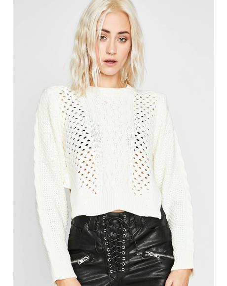 Pure Takin' Space Knit Sweater