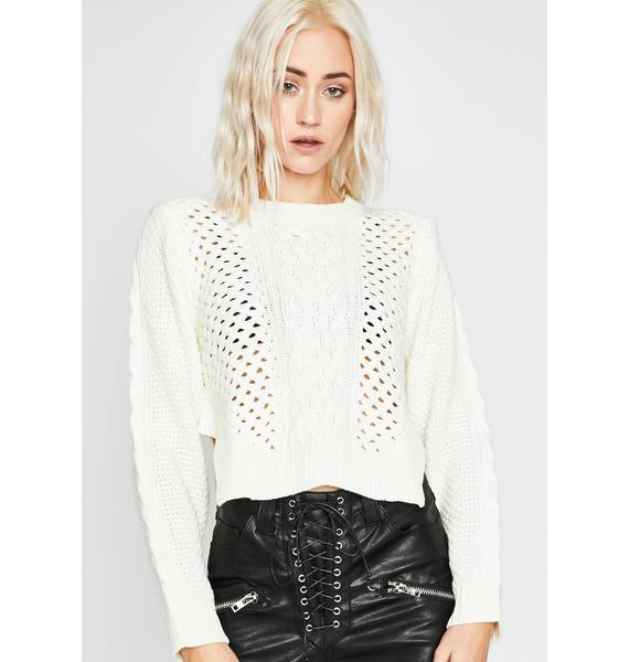 Pure Takin' Space Knit Sweater