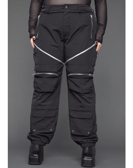 You Make 'Em Sweat Nylon Cargo Pants