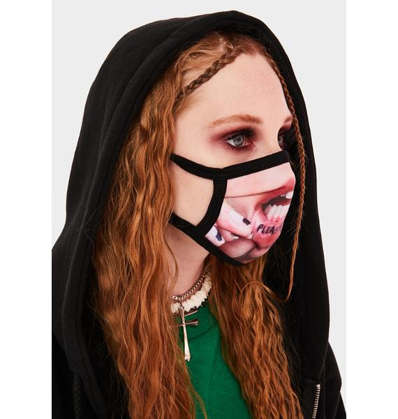 Pleasures Tattoo Face Mask