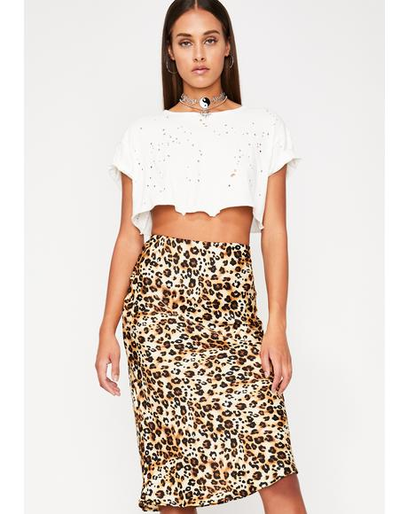 Ferocious Vibe Leopard Skirt