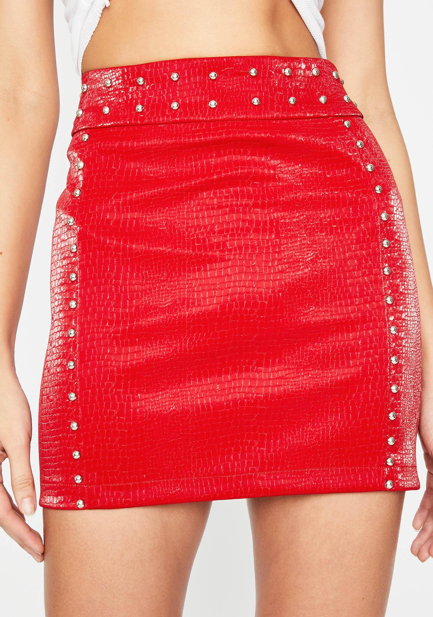 My Own Road Studded Skirt