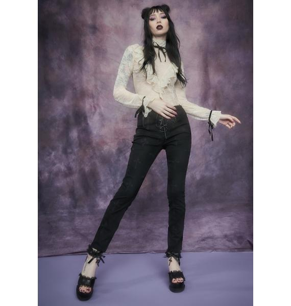 Widow Daughter Of The Queen Embroidered Jeans