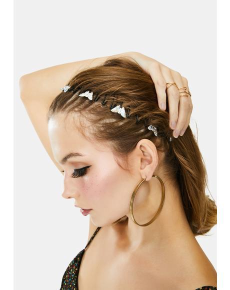 Iridescent Butterfly Elastic Headband