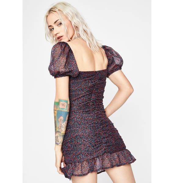 Bloomin' Blitz Ruched Dress