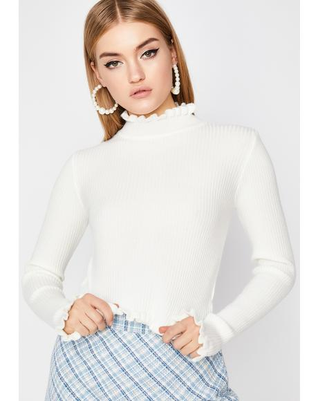 Boo It's Complicated Knit Sweater