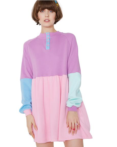 Panel Popper Sweater Dress