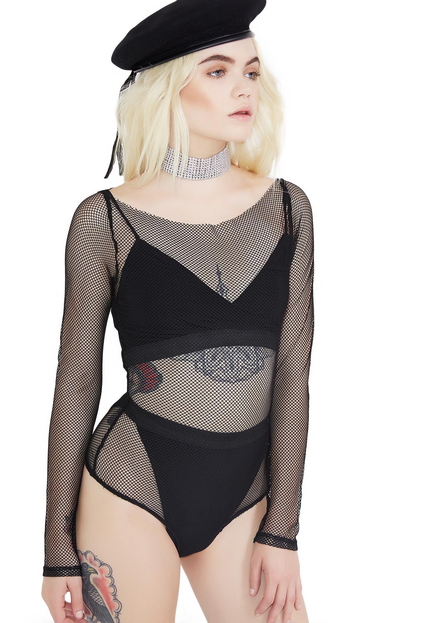 So Enticing Fishnet Bodysuit