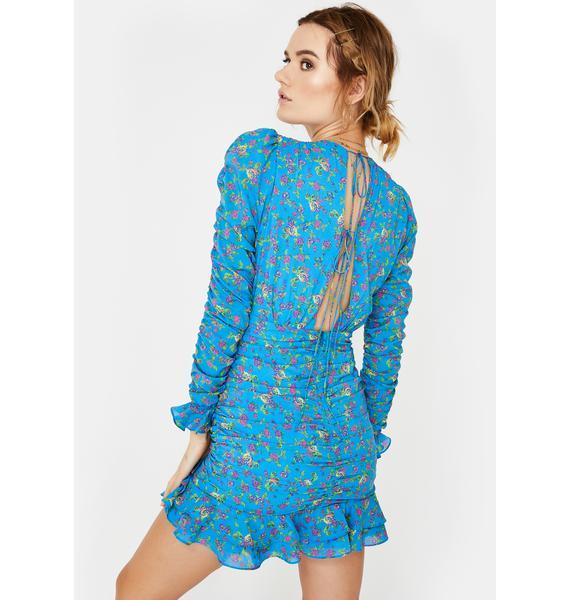For Love & Lemons Bahama Ruched Mini Dress