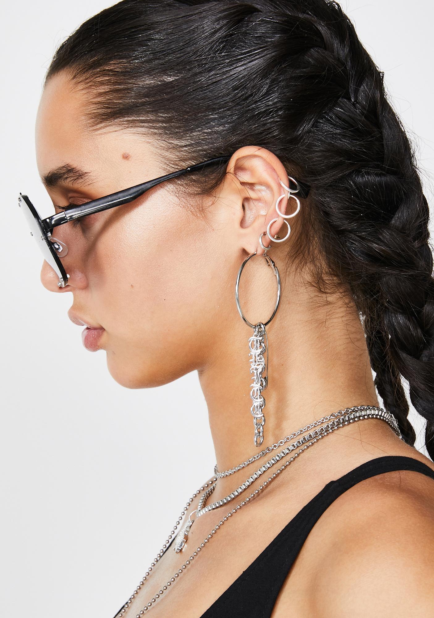 Trust Issues Hoop Earrings