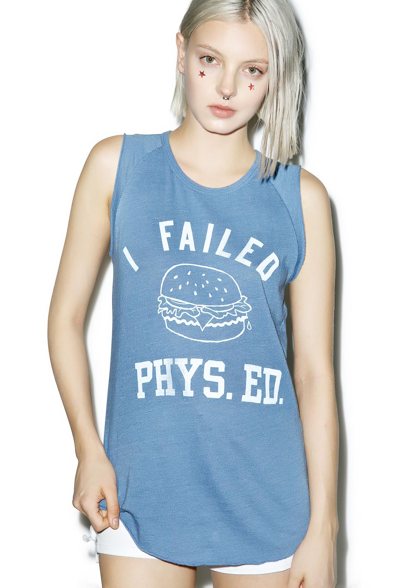 Junk Food Clothing I Failed Phys. Ed Tank