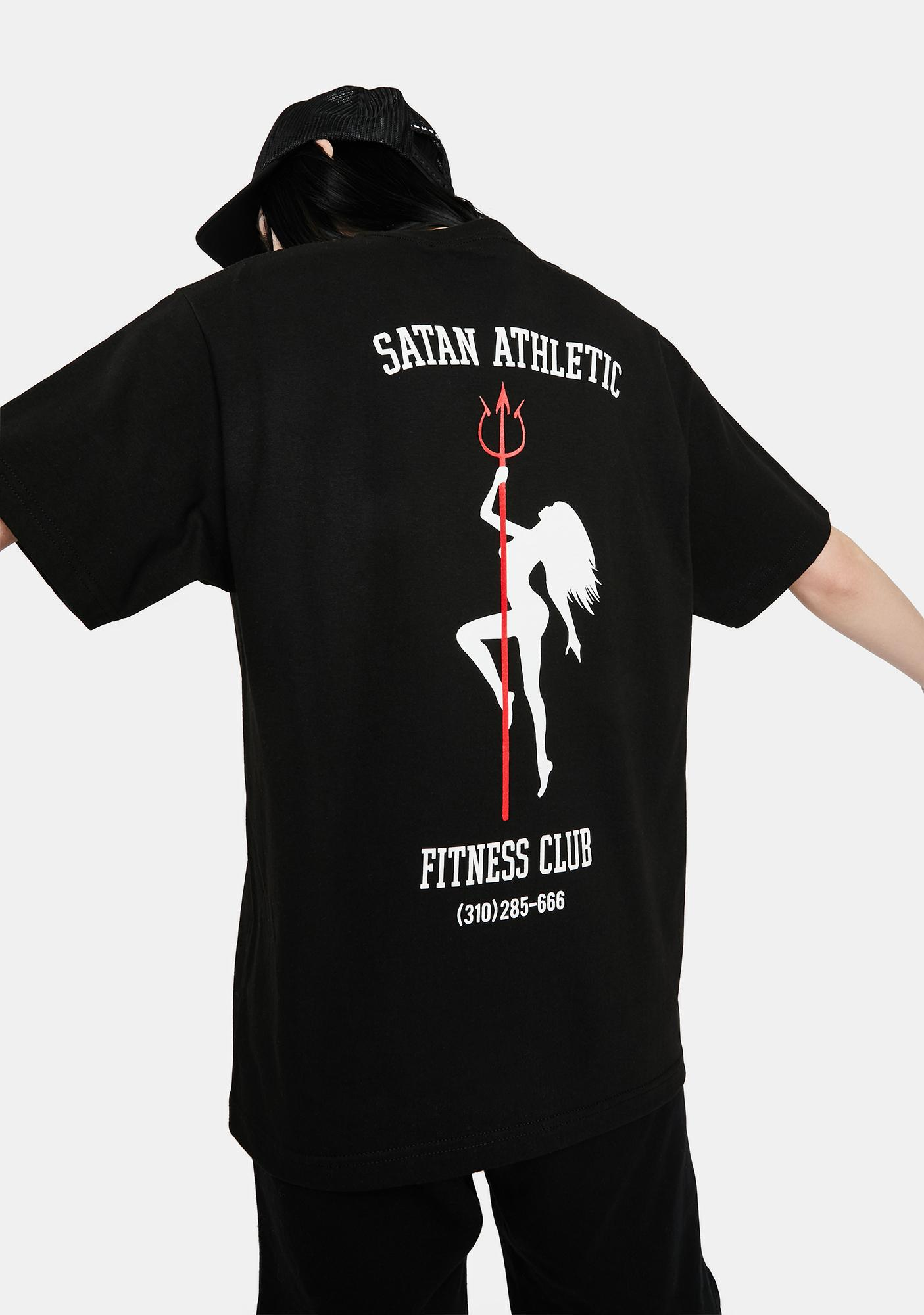 Satan Athletic Polo Fitness Club Graphic Tee