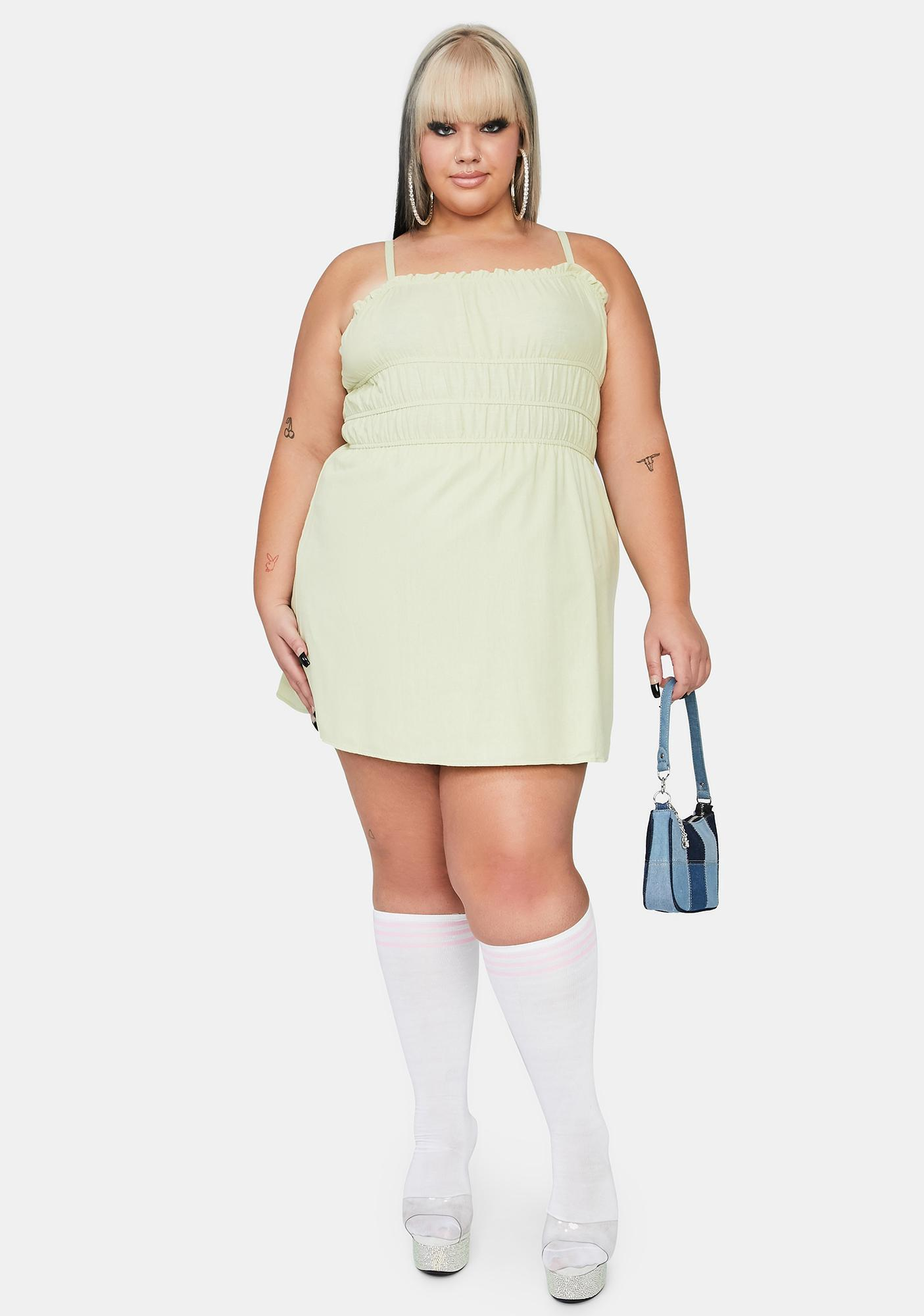 Lime True Soft Girl Summer Sundress